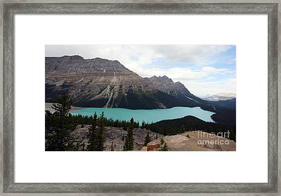 Framed Print featuring the photograph Peyto by Milena Boeva
