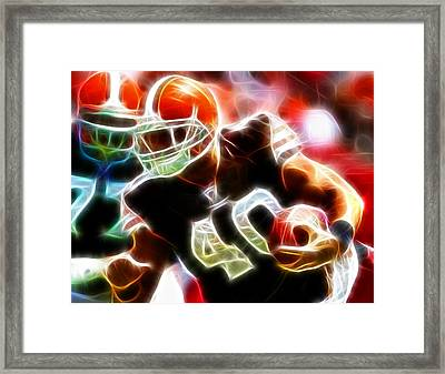 Peyton Hillis Magical Framed Print by Paul Van Scott