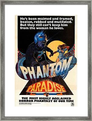 Phantom Of The Paradise, Poster, 1974 Framed Print