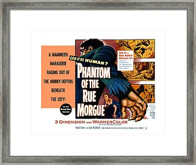 Phantom Of The Rue, Patricia Medina Framed Print