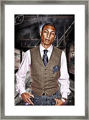 Pharrell Framed Print by The DigArtisT
