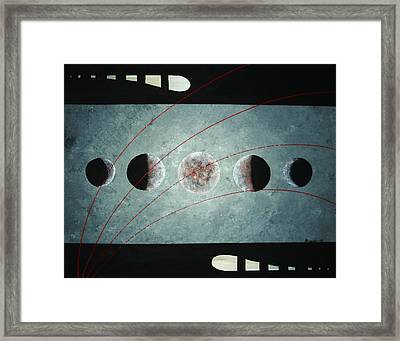 Framed Print featuring the painting Phases by Edwin Alverio