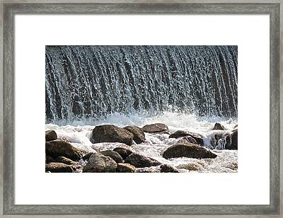 Framed Print featuring the photograph Phelps Mill Dam by Penny Meyers