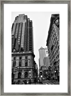 Philadelphia 18th And Walnut Street. Framed Print by Bill Cannon