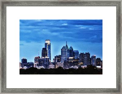 Philadelphia At Night Framed Print by Bill Cannon
