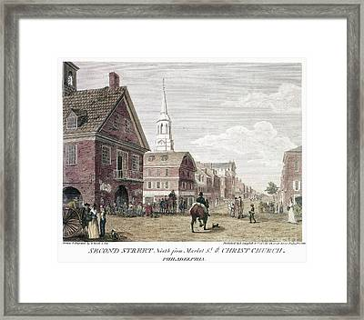 Philadelphia: Birch, 1799 Framed Print