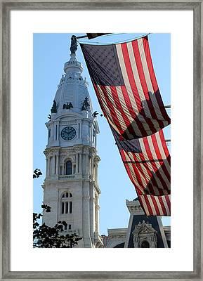 Philadelphia City Hall Framed Print by Andrew Fare