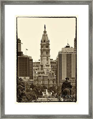 Philadelphia City Hall Framed Print by Jack Paolini