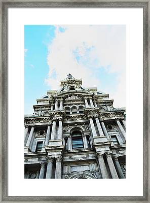 Philadelphia City Hall -looking Up Framed Print
