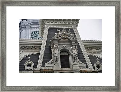 Philadelphia City Hall Window Framed Print