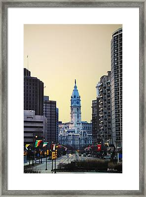 Philadelphia Cityhall At Dawn Framed Print by Bill Cannon