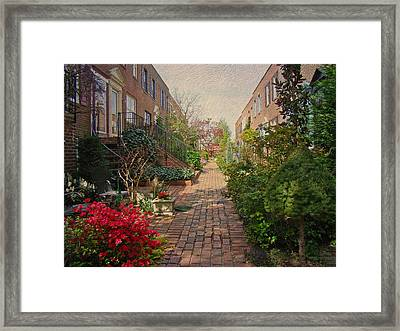 Philadelphia Courtyard - Symphony Of Springtime Gardens Framed Print by Mother Nature