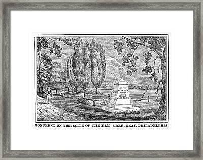 Philadelphia: Elm Monument Framed Print