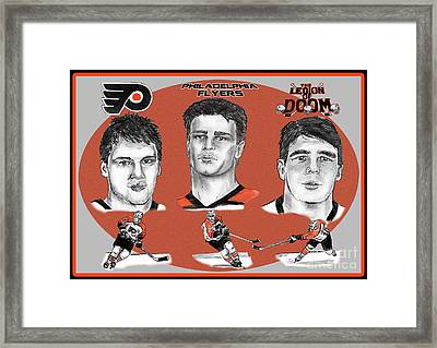 Philadelphia Flyers Legion Of Doom Framed Print