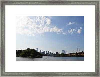 Philadelphia From Kelly Drive Framed Print by Bill Cannon