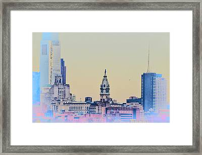 Philadelphia From South Camden Framed Print by Bill Cannon
