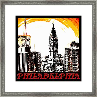Philadelphia Poster Framed Print by Bill Cannon