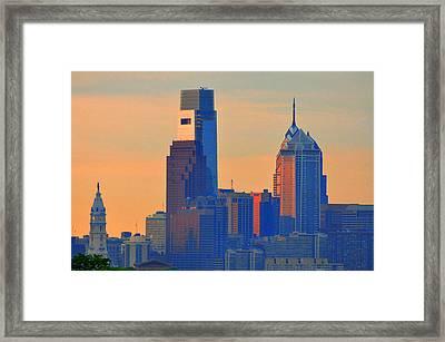 Philadelphia Sunrise Framed Print by Bill Cannon