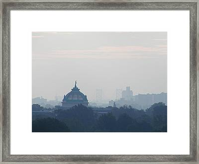 Philadelphia View  From Above The Mann Music Center Framed Print by Bill Cannon