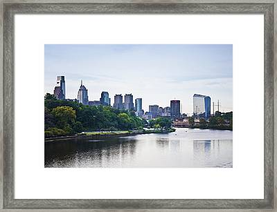 Philadelphia View From The Girard Avenue Bridge Framed Print by Bill Cannon