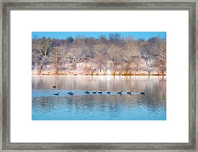 Philadelphia Winter Scene Framed Print by Bill Cannon