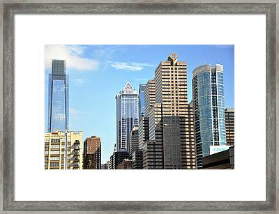 Philadlephia Skyline Framed Print by Andrew Dinh