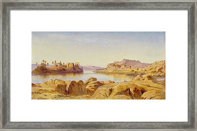 Philae - Egypt Framed Print by Edward Lear