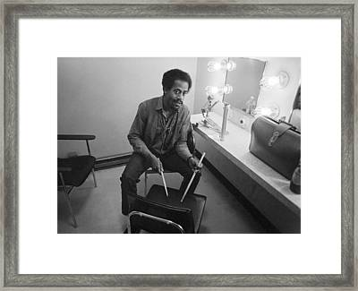 Philip Wilson Drums For Butterfield Blues Band Fillmore East 1968 Framed Print by Jan W Faul
