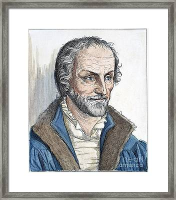 Philipp Melanchthon (1497-1560). German Scholar And Religious Reformer: Line Engraving, German, 19th Century Framed Print by Granger