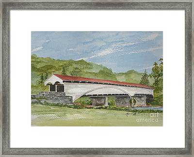 Philippi Covered Bridge  Framed Print