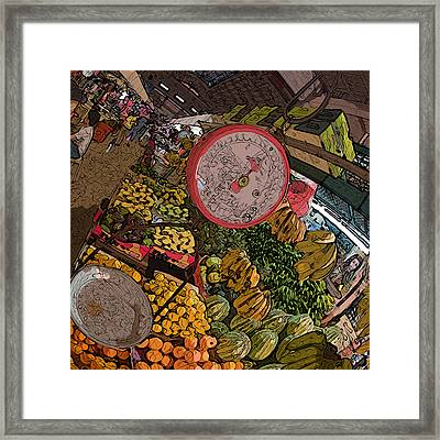 Philippines 2100 Food Market With Scale Framed Print
