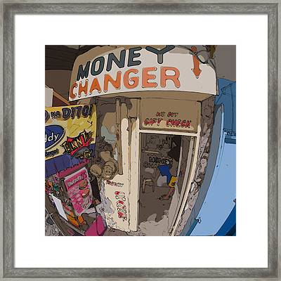 Philippines 3954 Money Changer Framed Print by Rolf Bertram