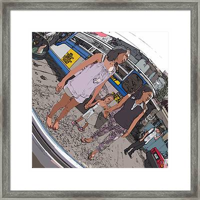 Philippines 3993 Young Moms With Girl Framed Print
