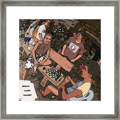 Philippines 4293 Checkers Framed Print