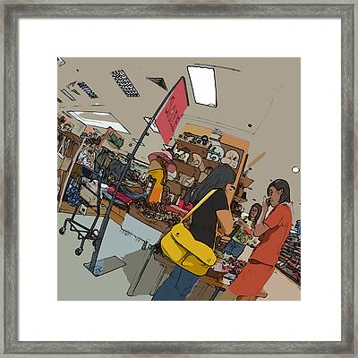 Philippines 4385 Department Store Sales Lady Framed Print