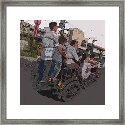 Philippines 5534 Pamilya Framed Print