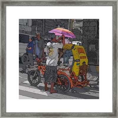 Philippines 870 Bicycle Taxi Framed Print by Rolf Bertram
