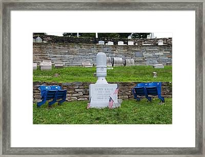 Phillies Harry Kalas' Grave Framed Print by Bill Cannon