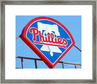 Phillies Logo Framed Print by Carol Christopher