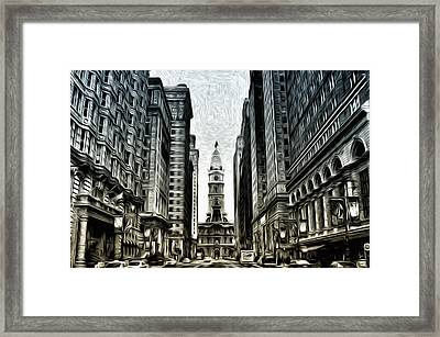 Philly - Broad Street Framed Print by Bill Cannon