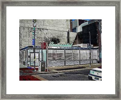 Philly Diner Framed Print by John J Murphy III