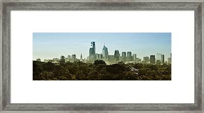Philly Panorama Framed Print by Bill Cannon