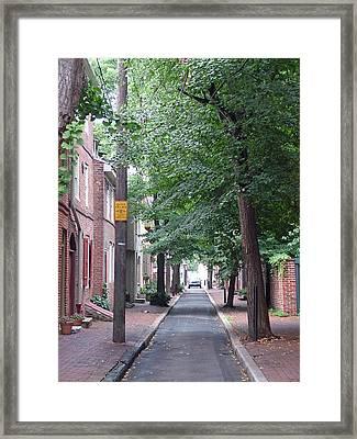 Philly Street Framed Print by Fredrik Ryden