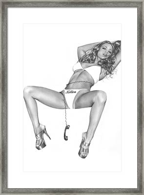 Phone Sex Framed Print by Pete Tapang