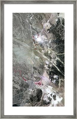 Phosphate Mines, Jordan Framed Print by Nasa