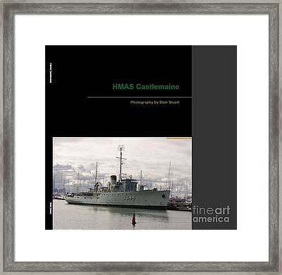Framed Print featuring the mixed media Photobook On Hmas Castlemaine by Blair Stuart