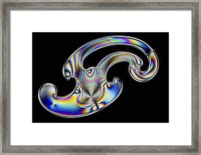 Photoelastic Stress Of French Curves Framed Print by Pasieka