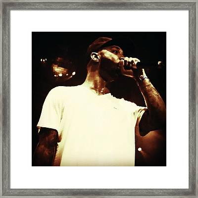 Photog Session Of Joe Budden. #music Framed Print