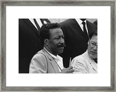 Photographer Gordon Parks At The 1963 Framed Print by Everett