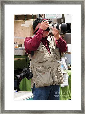 Framed Print featuring the photograph Photographer by Jack Moskovita